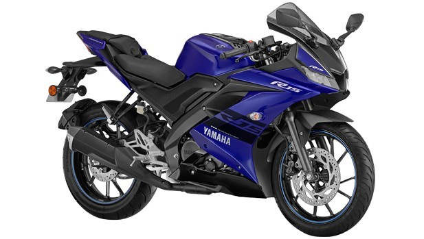 yamaha R15 racing blue