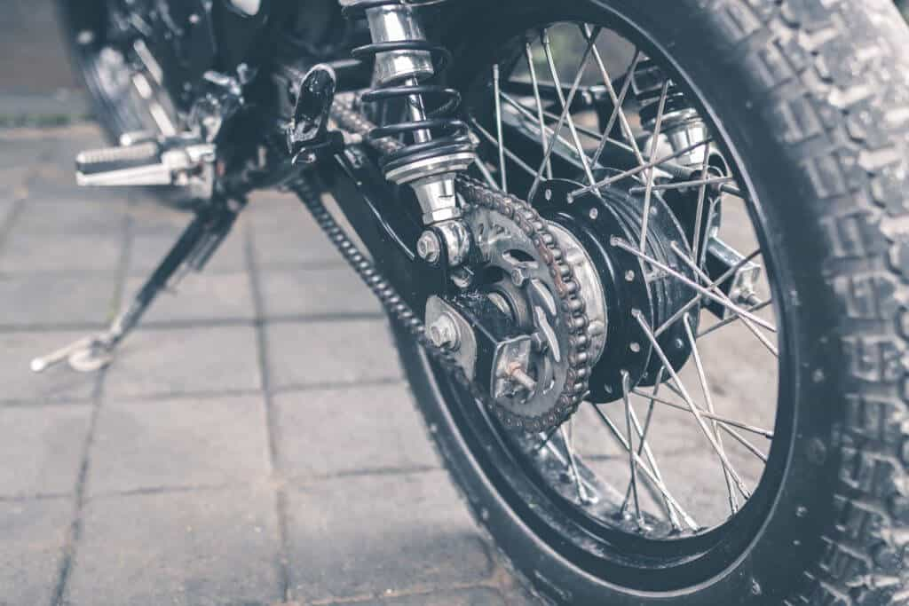Motorcycle chain sprocket