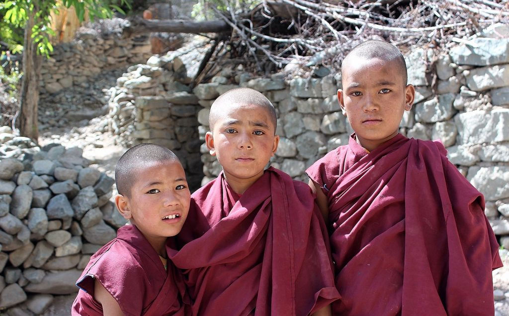 buddhist diciples in ladakh